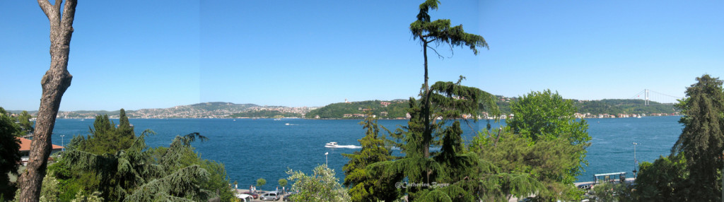 Bosphorus view from the Sakip Sabanci Terrace