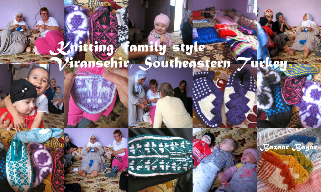 Knitting family style