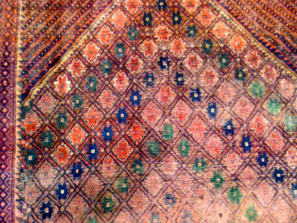 "Vintage Anatolian Turkish Carpet 6'7""x4'5"""