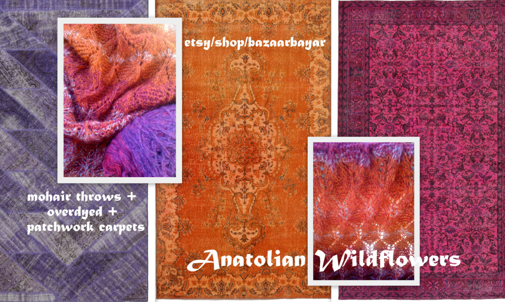 Anatolian Wildflowers Handknit Mohair Throw