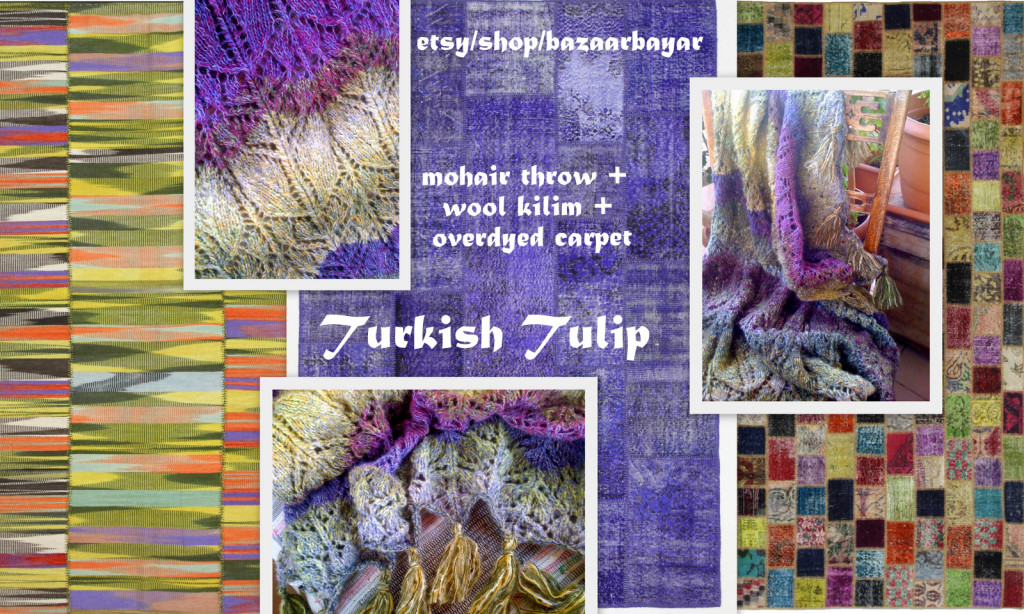 Turkish Tulip Handknit Mohair Throw