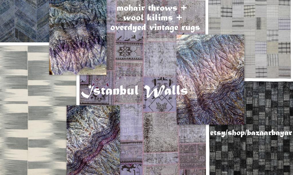 Istanbul Walls Handknit Mohair Throw