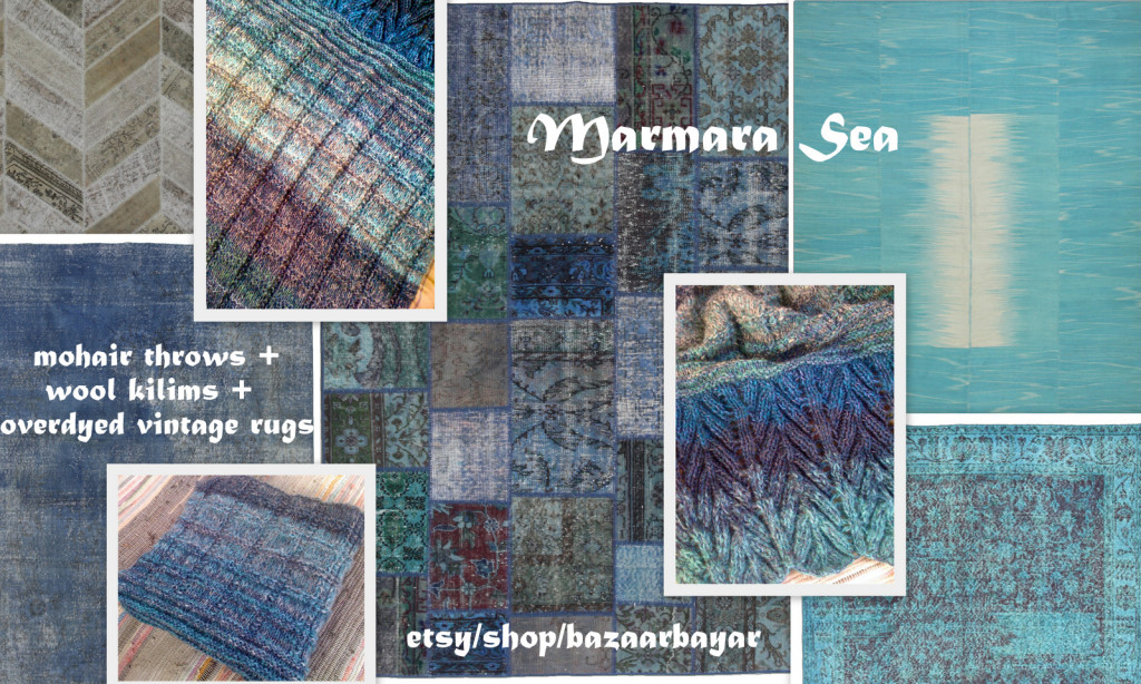 Marmara Sea Handknit Mohair Throw