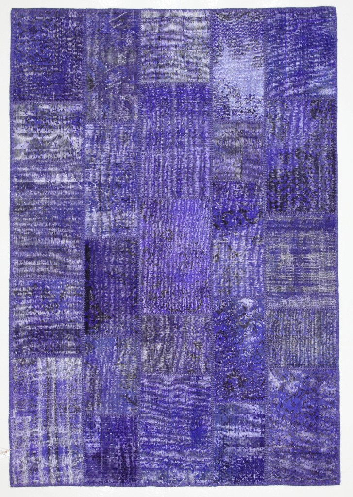 Violet Rug Patchwork Vintage Turkish 8'x5.5'