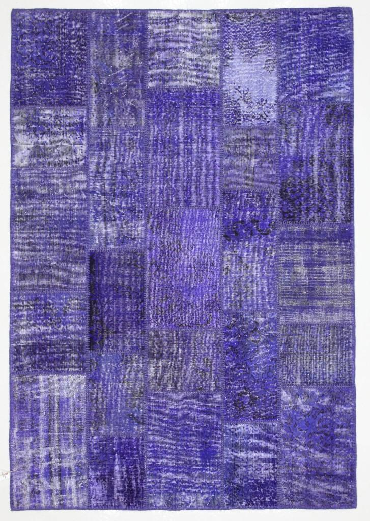 Violet Rug Patchwork Vintage Turkish 8'x5.5'